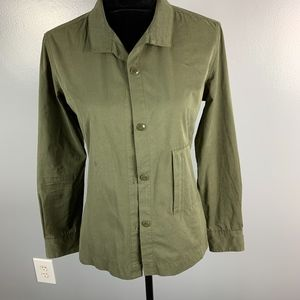 EXPRESS Army Green Jacket Button Up